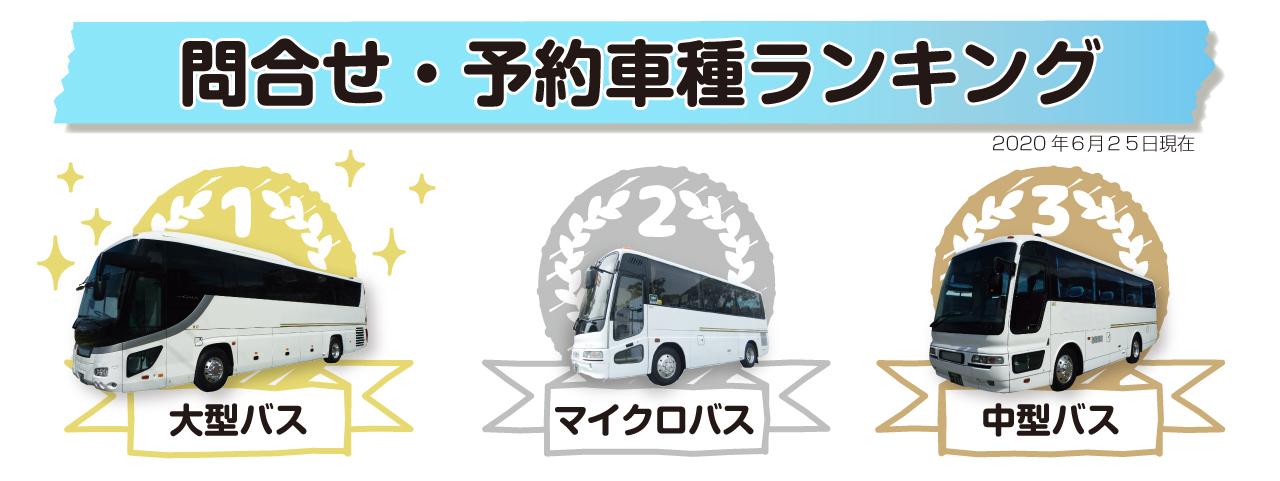 貸切バス予約車種ランキング